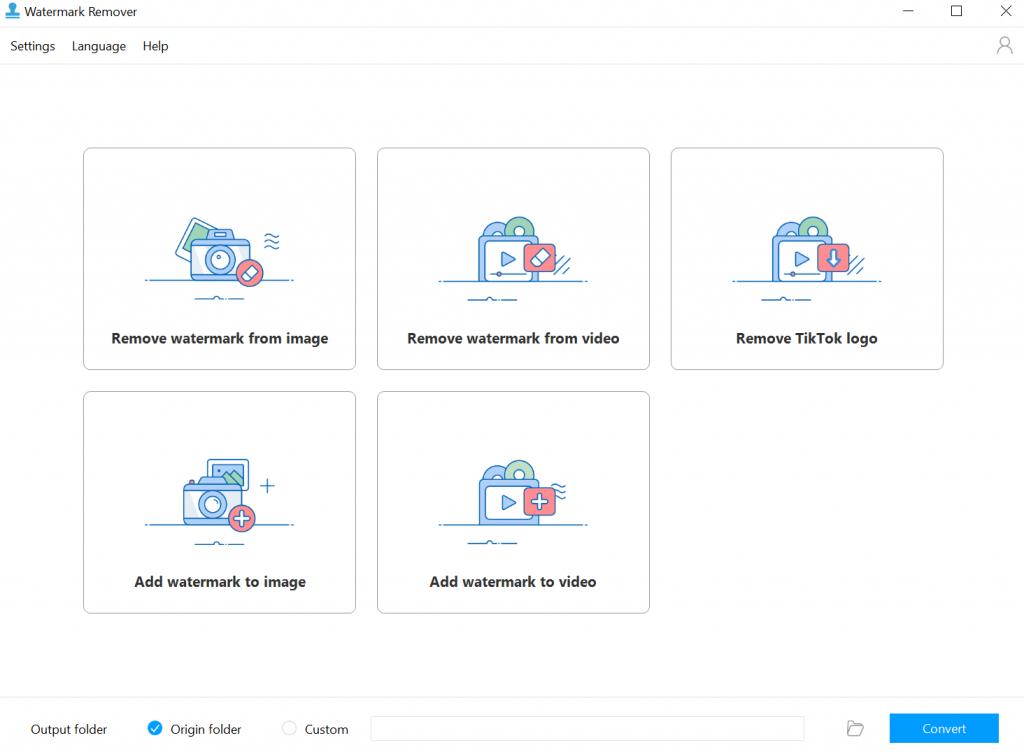 apowersoft watermark remover - schermata iniziale