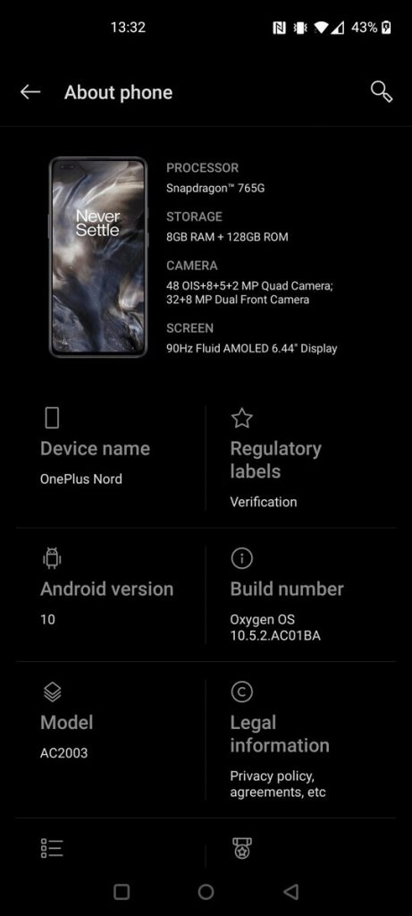 oneplus nord build