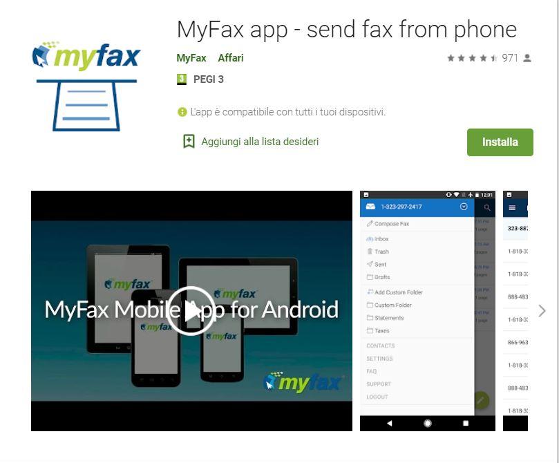 Myfax inviare fax tramite email