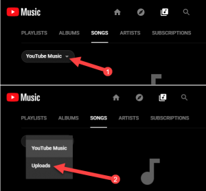 caricare musica su YouTube Music