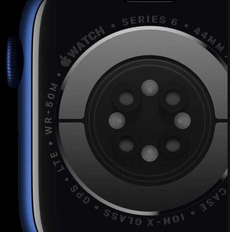 sensori ossigenazione sangue - apple watch 6