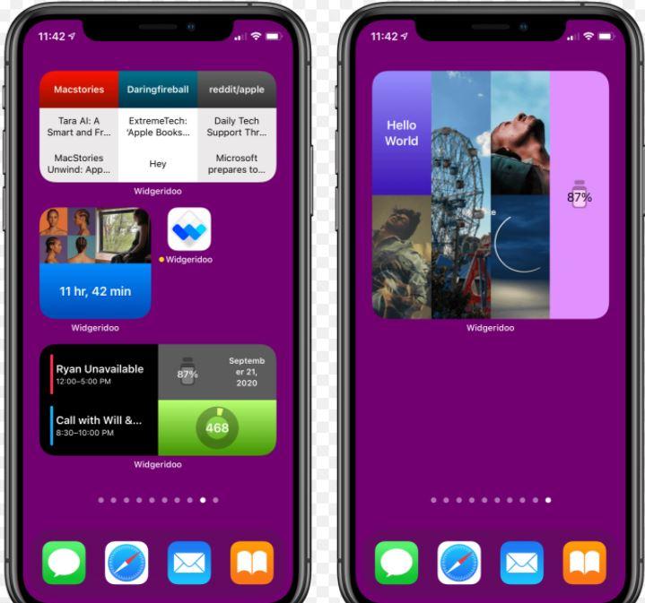 creare widget personalizzati su iPhone utilizzando Widgeridoo