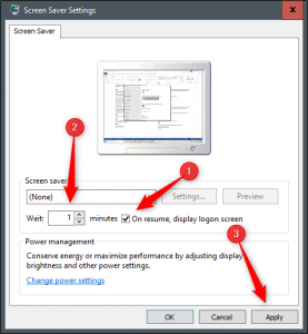Blocco PC da impostazioni Screen Saver