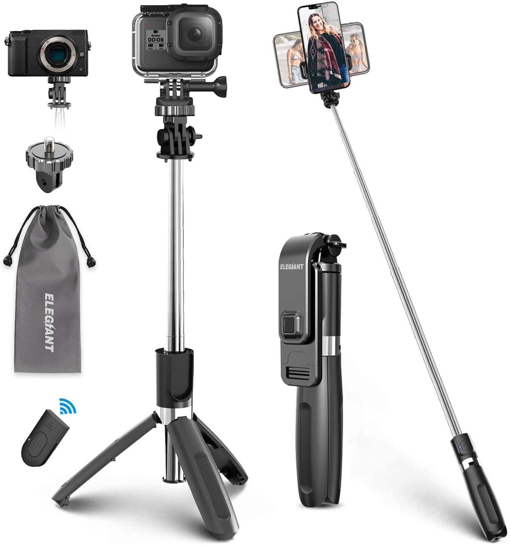 Un Selfie Stick con una macchina fotografica