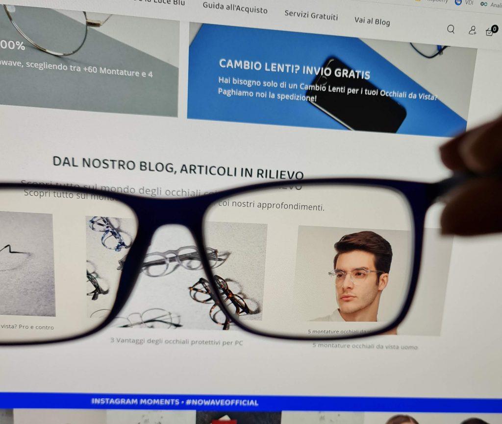 occhiali Nowave lenti anti luce blu
