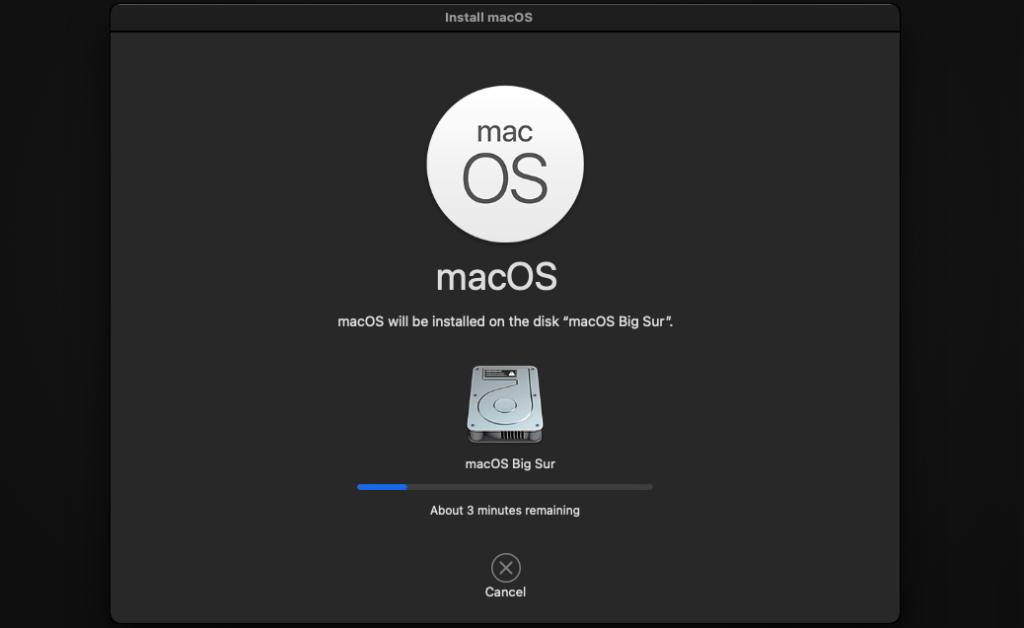 aggiornare unità di installazione macOs