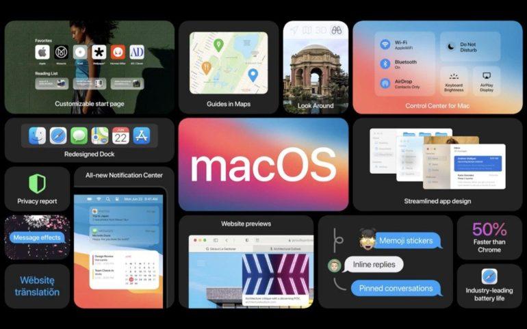 nuove funzionalità di MacOS Big Sur