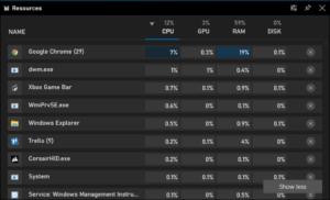 task manager per giochi