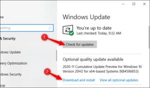 aggiornamenti qualitativi windows
