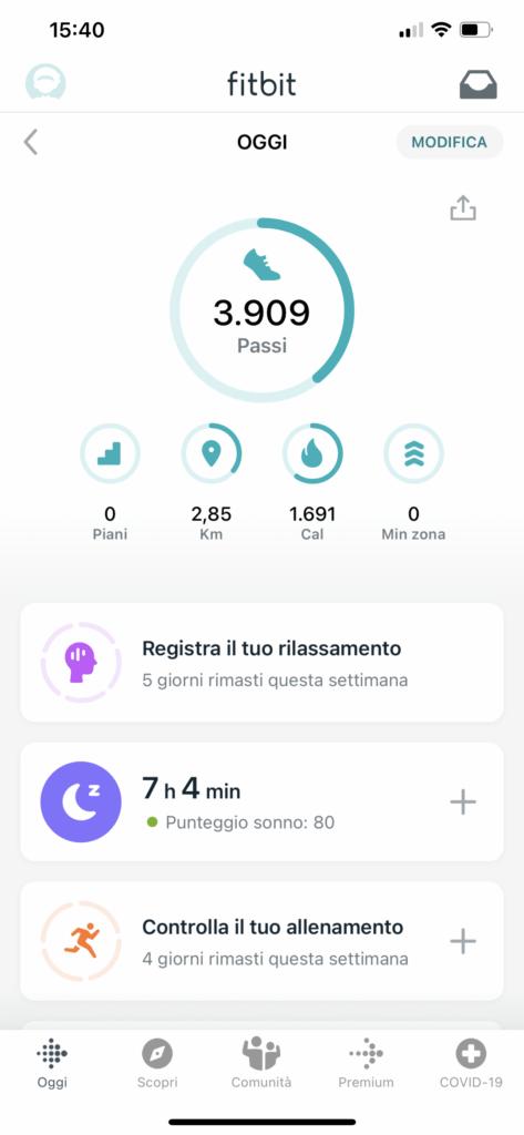app fitbit - versa 3 - 1