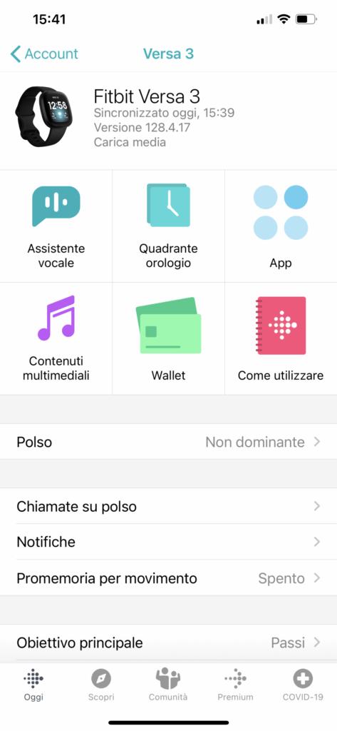 app fitbit - versa 3 - 7