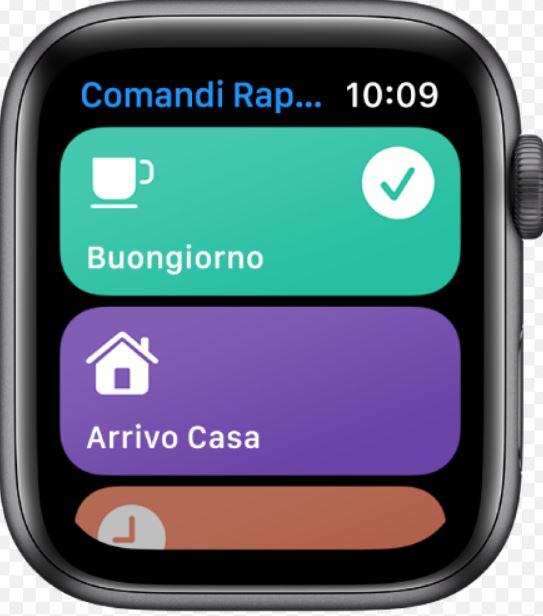 Comandi Rapidi Apple WatchComandi Rapidi Apple Watch