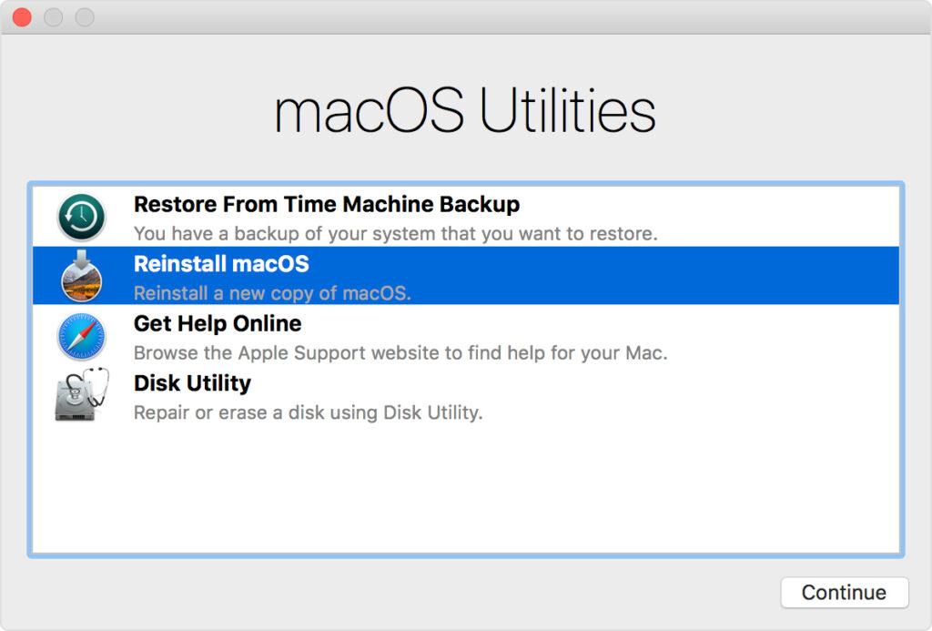 Reinstallare Mac OS