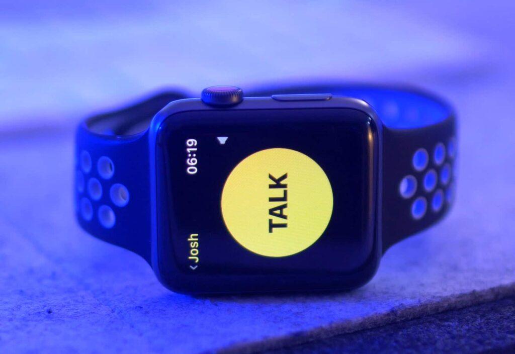 autonomia apple watch - disabilitare walkie talkie