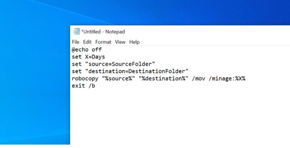 Creare batch script