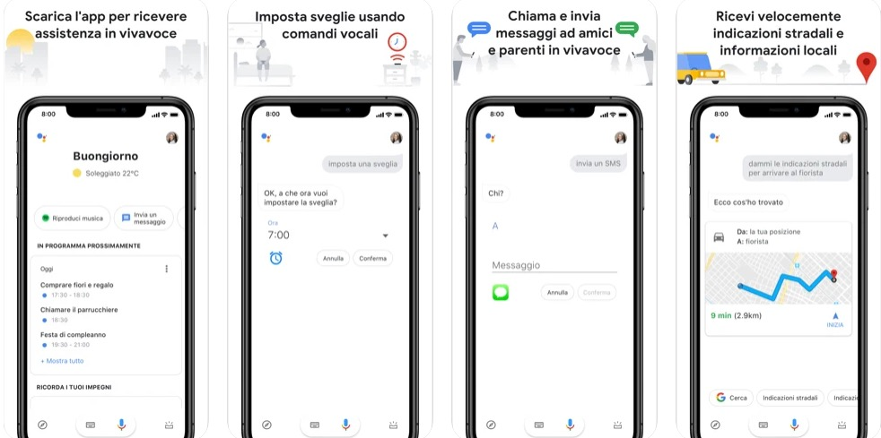 Assistente Google iphone