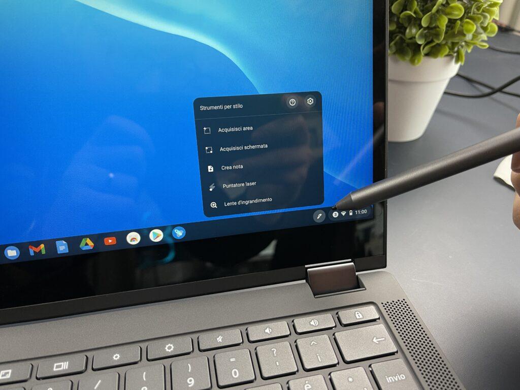 Lenovo IdeaPad Flex 5 Chromebook funzioni pennino stilo