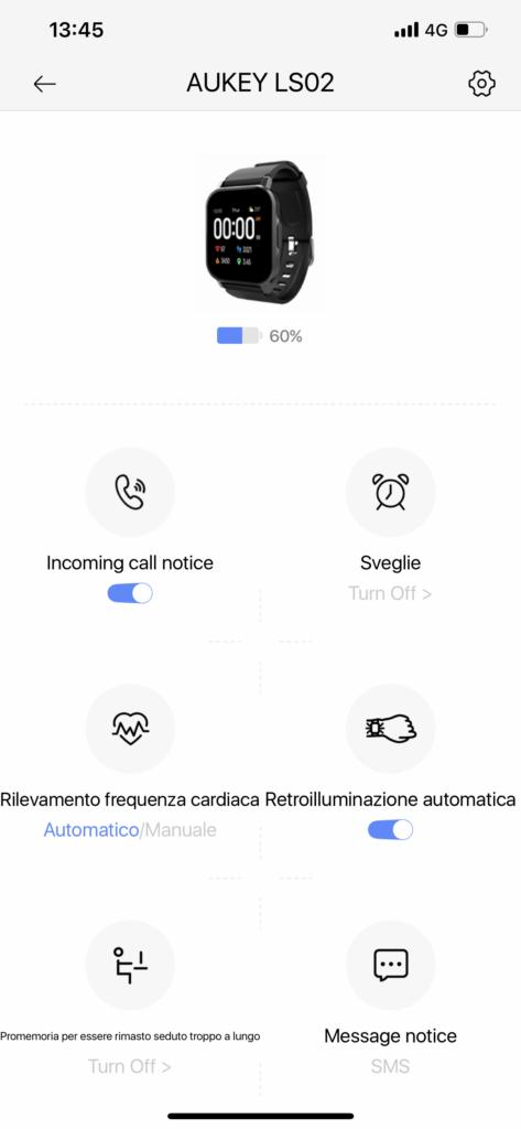 Recensione Smartwatch Aukey LS02 - app aukey fit 3