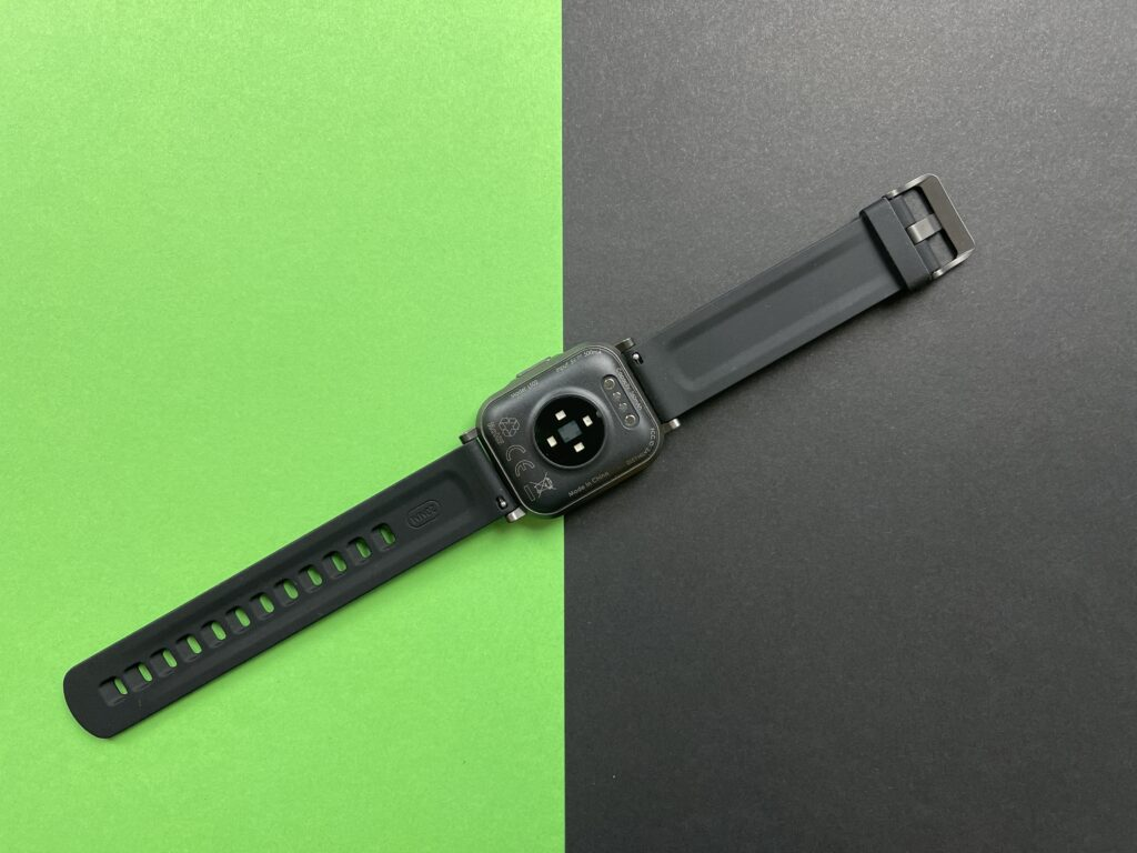 Recensione Smartwatch Aukey LS02 lato interno e sensori