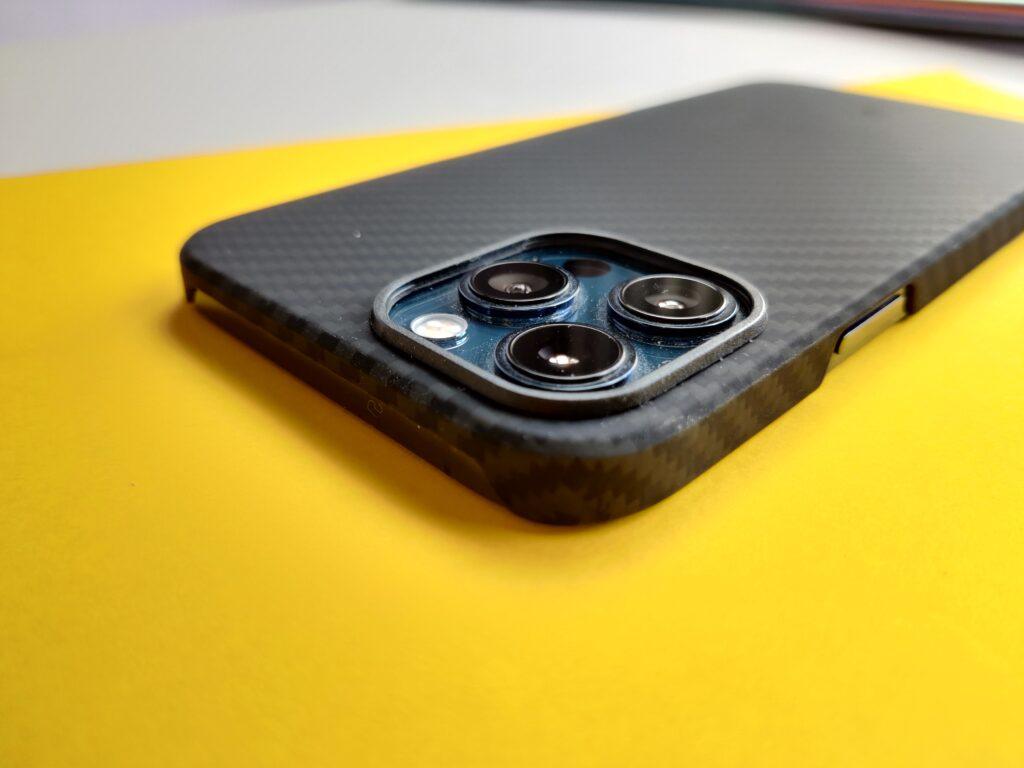 cover Pitaka per iPhone 12 pro max dettaglio fotocamere