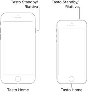 iphone bloccato sul logo Apple