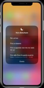 non disturbare iphone