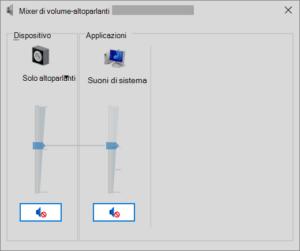 regolare audio windows