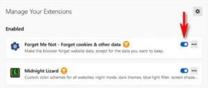 rimuovere estensioni in Firefox