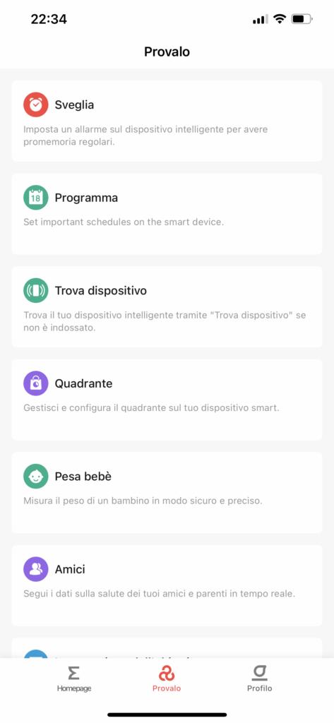 app zepp - amazfit gts 2e - funzioni