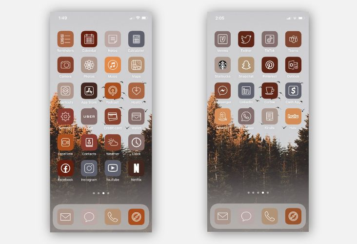 Icone personalizzate iPhone
