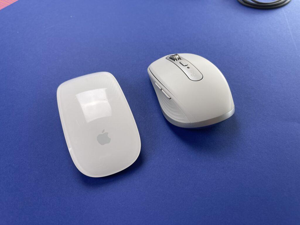 Logitech MX Anywhere 3 vs magic mouse apple
