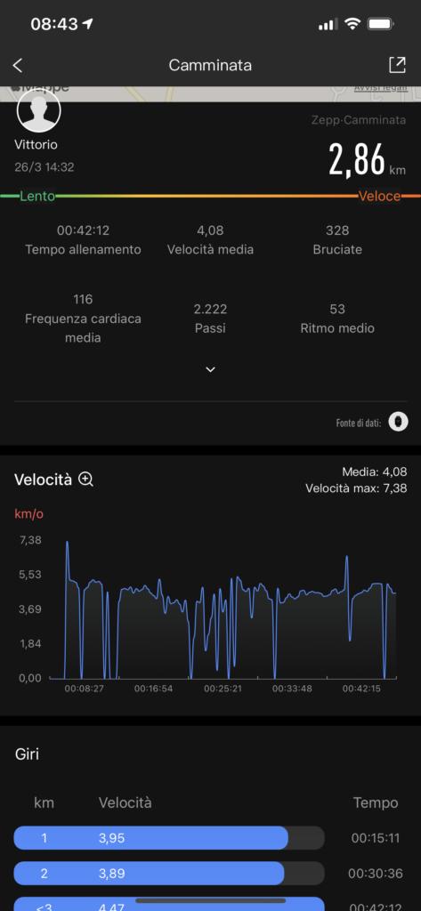 Recensione Amazfit Bip U Pro - app zepp 3