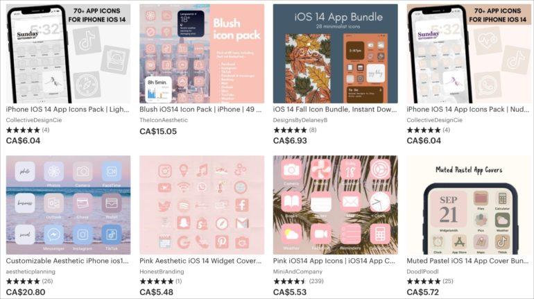 Scaricare pacchetti di icone iPhone