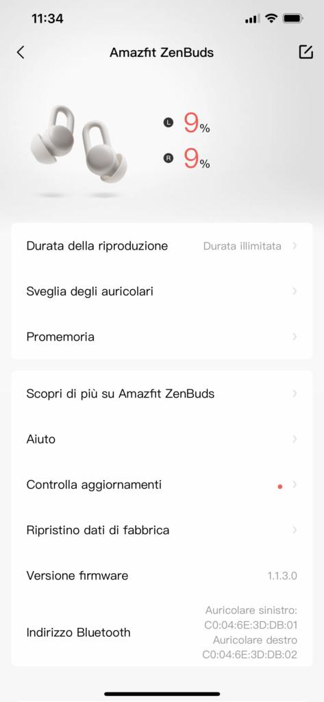 amazfit zenbuds - app zepp - 4