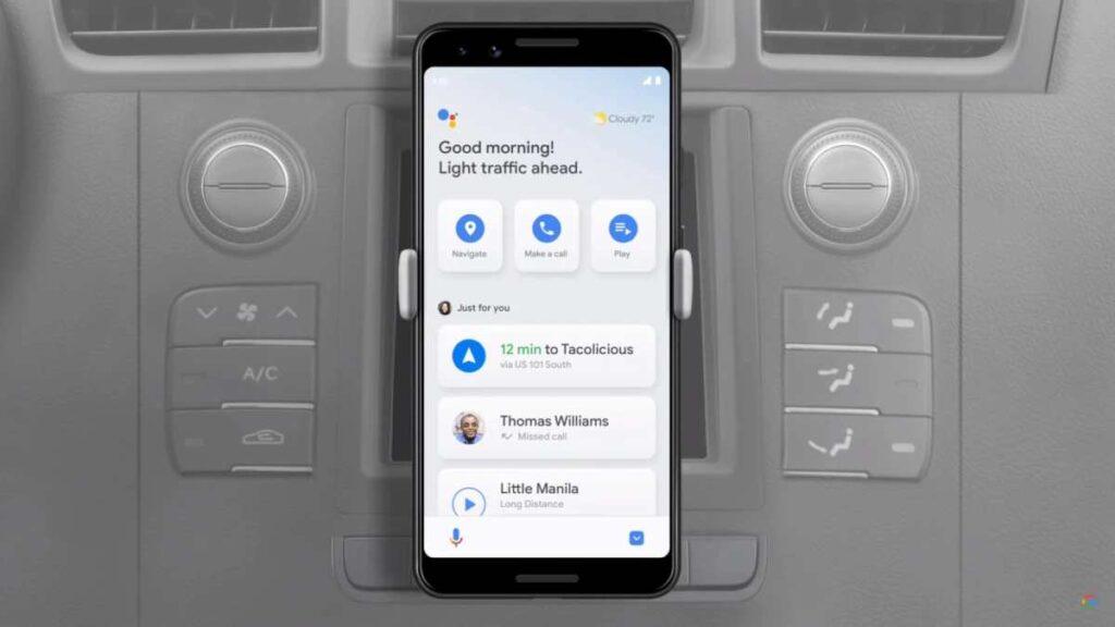 google assistant  modalità guida