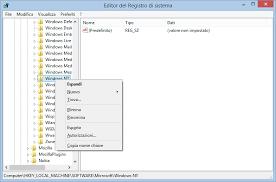 screenshot registro di sistema windows 10