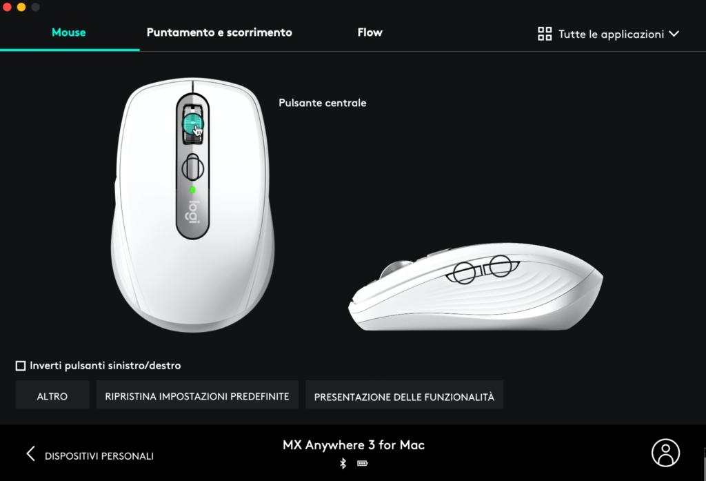 software logitech options per mx anywhere 3 per mac