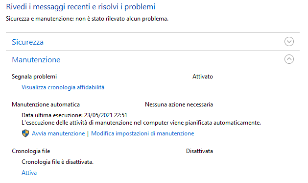 Manutenzione Windows 10