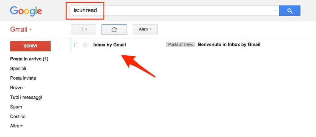 Funzione ricerca Gmail