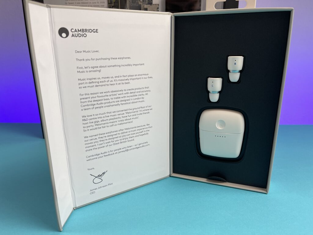 recensione Cambridge Audio Melomania 1+ - confezione aperta