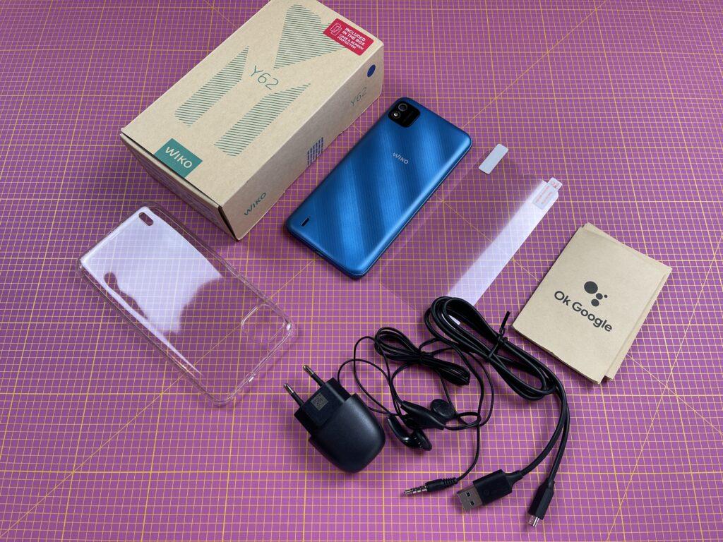 recensione wiko y62 - dotazione accessori