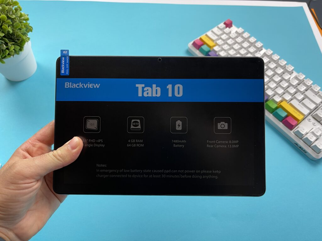 Blackview Tab 10 2021 - lato frontale