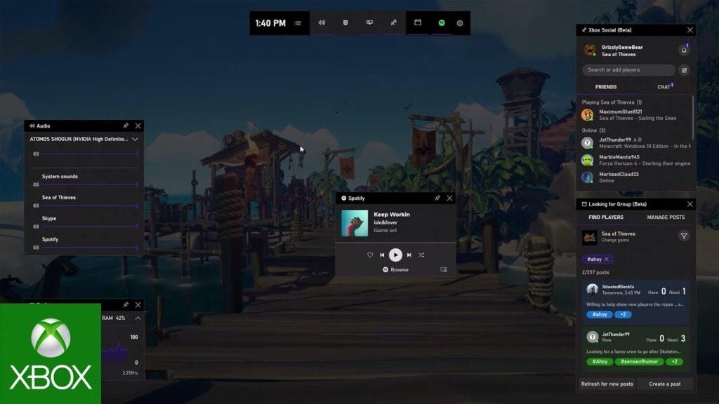 Xbox Game Bar 01