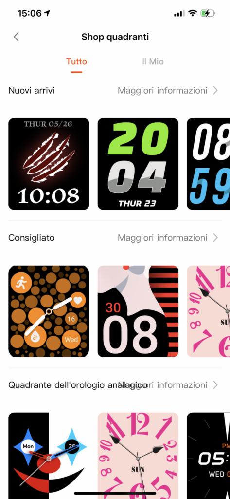app very fit - quadranti personalizzabili
