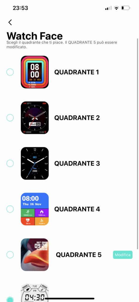 kospet rock - app da fit -quadranti
