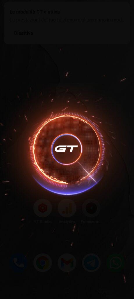 Recensione Realme GT Master Edition - modalità gt